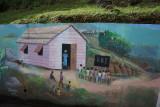 Native hillside painting
