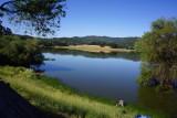 Lake near house