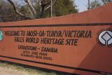 entering Victoria falls