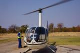 helicoper awaits