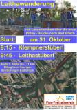 Einladung zur Leithawanderung, 31. Oktober 2015