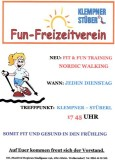 Jeden Dienstag um 17:45: Fit & Fun - Training!