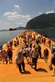 Floating Piers von Christo, Sulzano, 18. Juni bis 3. Juli 2016