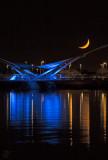 Tempe Lake Pedestrian Bridge Crescent Moon