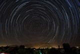 Star Trails Over the Catalina Mountains