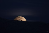 Snow Moon-rise Over the Catalina Foothills