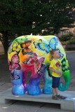Art exhibition  Elephant parade in aid of the Asian Elephant Foundation