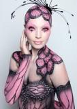 pink monarch wings
