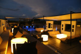 Rooftop bar and party room.