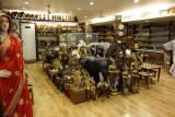 Inside a typical tourist shop.