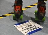 Sign At A Roller Derby Meet