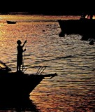 Sunset Fisherboy