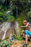 Family Photo at El Nicho Waterfall