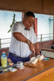 Preparing Coconut Rum Drinks, II