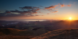 Sunset over cardigan bay from Moelwyn Mawr.