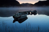 Fishing boats on Llyn Nantlle