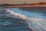 Ice on Harlech beach