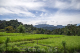 Village scene in Padang