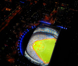 The Baseball Arena from the CN Tower,Toronto,Ontario,Canada. The Players are running...
