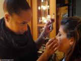 Two beauties behind the scenes: Monique Mua & Hedy Model