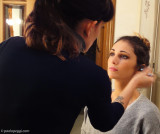 Federica behind the scenes with Susy Makeup Artist
