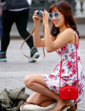 Red Square,Moscow:tourist @ work... :-)
