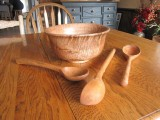 Sycamore Spoons and Bowl