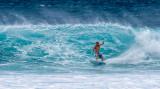 Surfer. Sunset Beach, Oahu.