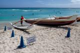 Outrigger Canoe. Waikiki Beach.