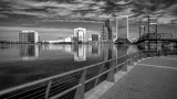 JAXscape from the South Bank Riverwalk BW