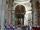 Inside the largest basilica in the world.