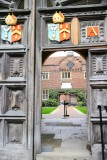 The gates to Abbots Hospital Guildford
