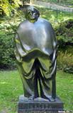Statue of Croatian writer Miroslav Krleza at the bottom of Tuskanac, Zagreb, Croatia