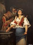 Blind Girl in a Church, 1888, Anton Aron, 1859-1920