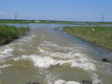 Mississippi River water on way to Lake Pontchartrain via Bonnet Carre' Spillway