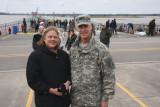 Katherine Landry  and Maj. Gen. Michael Wehr