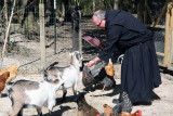 Abbot Justin with his Farm Animals
