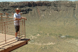No fear of heights - at Meteor Crater, AZ