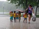 Un peu de pluie! Some rain!