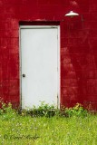 White Door on Red