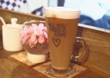 …and a frothy latte