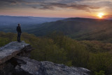 Watching The Sunset From Bald Knob: Giles County