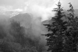 A Cloudy View Of The Smoky Mountains: North Carolina