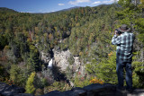My Son Paul Photographing Linville Falls