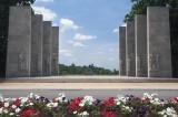 Flowers In Front Of The War Memorial