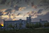 Holtzman Alumni Center Summer Sunset