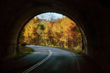View When Driving Through One Of The Parkway's Tunnels