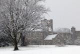 Snowing On Holtzman Alumni Center