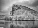Snow On Castlerock- The New River-Virginia