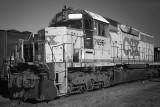 A Retired Rusting Diesel Engine